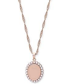Antique Imitation Pearls Pendant Necklace