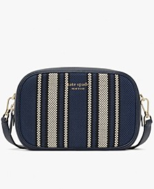 Astrid Canvas Stripe Medium Camera Bag
