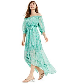 Off-The-Shoulder High-Low Maxi Dress, Created for Macy's