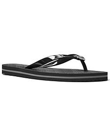 Striped-Side Flip-Flop Sandals