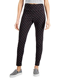 INC Plaid Ponté-Knit Leggings, Created for Macy's