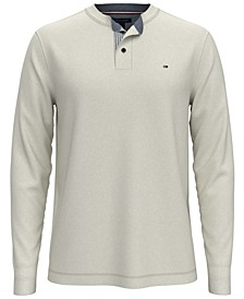 Men's Combed Cotton Henley