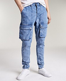 Men's Crosby Relaxed Tapered-Fit Cargo Jeans, Created for Macy's