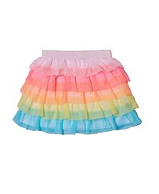 Little Girls Rainbow Tiered Skirt