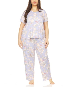 Kate Printed Plus Size Pajama Set