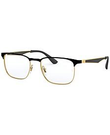 RX6363 Men's Square Eyeglasses