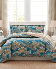 Banana Palm Reversible Comforter Sets, Created for Macy's