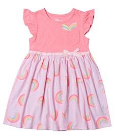 Little Girls Short Sleeve Tutu Dress