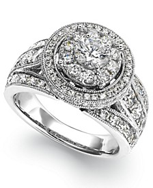 Diamond Round Engagement Ring (2-1/2 ct. t.w.) in 14k White Gold