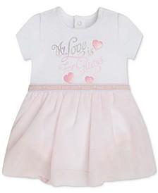 Baby Girls Organic Jersey Bodysuit & Sparkle Tulle Skirt Dress