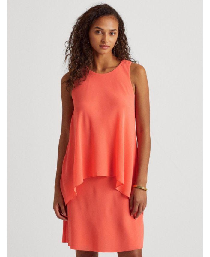 Lauren Ralph Lauren Petite Layered Georgette Dress & Reviews - Dresses - Petites - Macy's