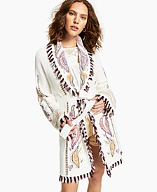 INC Embroidered Cardigan, Created for Macy's
