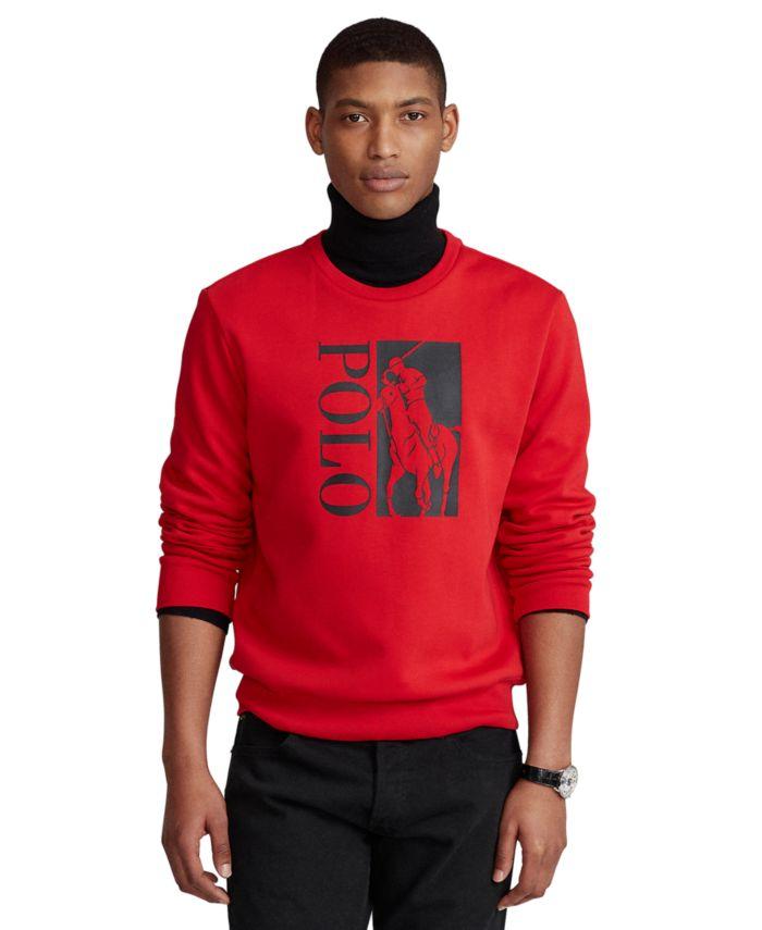 Polo Ralph Lauren Men's Big Pony Logo Double-Knit Sweatshirt & Reviews - Casual Button-Down Shirts - Men - Macy's