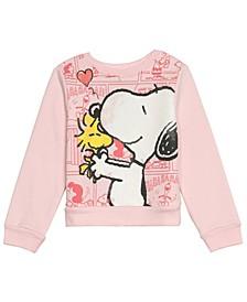 Little Girls Peanuts Snoopy Long Sleeve Fleece Top