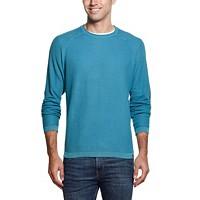Weatherproof Vintage Men's Raglan Sleeve Honeycomb Sweater