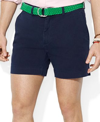 Polo Ralph Lauren Men's Core Classic-Fit Flat-Front Chino Shorts ...