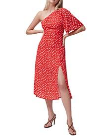 Fayloa Floral-Print One-Shoulder Midi Dress