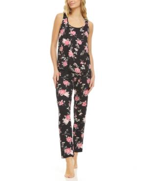 Lace Trim Tank Top & Pajama Pants Set
