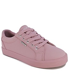 Little Girls Tonal Lace Up Sneakers