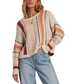 Easy Going Cotton Cropped Sweater