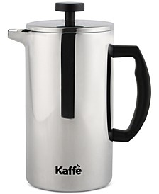 French Press Double-Walled Glass & Stainless Steel Coffee Maker