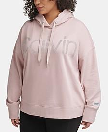 PerformancePlus Size Embellished Logo Hooded Sweatshirt