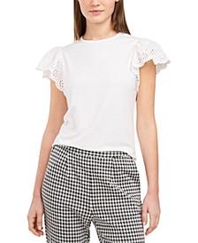 Mae Eyelet-Sleeve Top, Created for Macy's