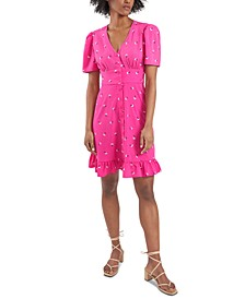 Adrianna Printed Button-Front Dress, Created for Macy's