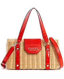 Paloma Medium Rattan Satchel