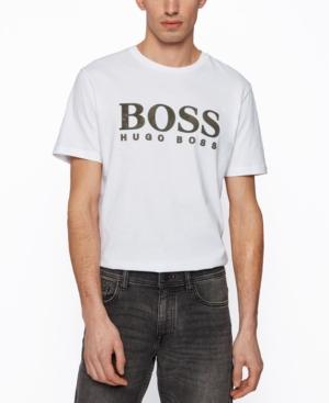 Hugo Boss T-shirts BOSS MEN'S MIXED PRINT T-SHIRT