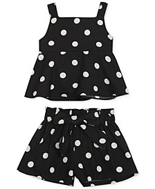 Baby Girls 2-Pc. Dot-Print Top & Shorts Set