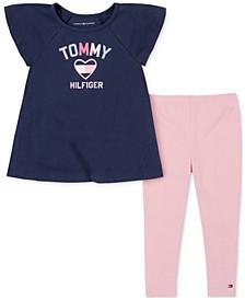 Baby Girls 2-Pc. Logo Tunic & Leggings Set