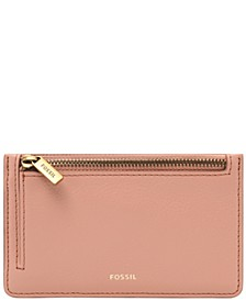 Logan Leather Zip Card Case