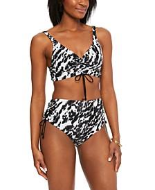 Heat Wave Bikini Top & High-Waist Bikini Bottoms, Created for Macy's