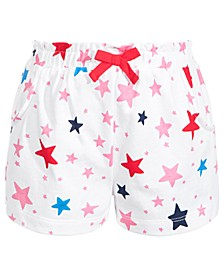 Toddler Girls Star-Print Cotton Shorts, Created for Macy's