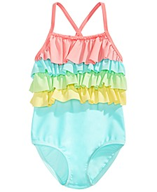 Toddler Girls Tiered Ruffle Swimsuit, Created for Macy's