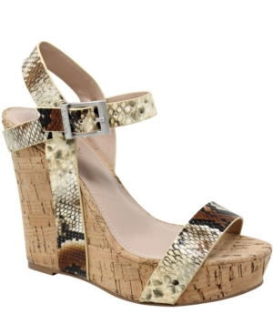 Charles By Charles David WOMEN'S ARMY WEDGE SANDALS WOMEN'S SHOES