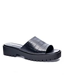Women's Respect Lug Sole Slide Flat Sandals