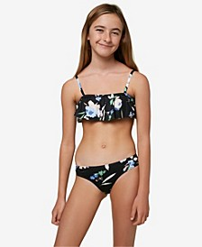 Big Girls Seabright Bikini Top and Bottom Set, 2 Pieces