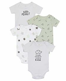 Baby Boys Elephant Bodysuit, 4 Piece Set