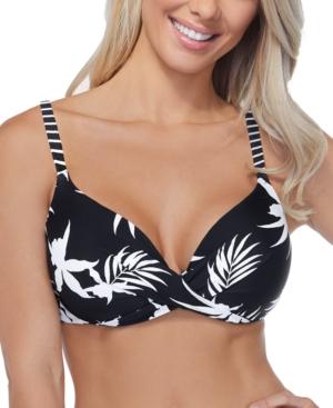 Hawaii Gardens Printed Gemini Underwire Bikini Top