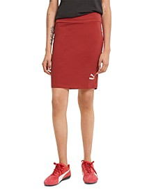 Women's Classics Ribbed Fitted Skirt
