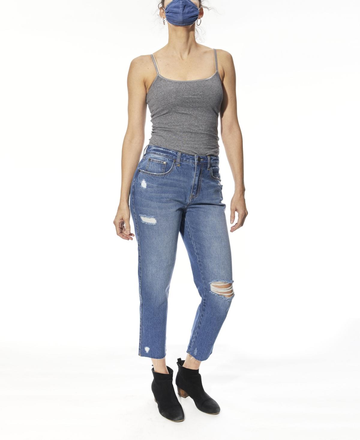 Women's High Rise Boyfriend Jeans