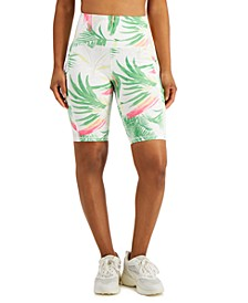 Women's Pastel Palms Bike Shorts, Created for Macy's