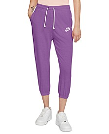 Plus Size Gym Vintage Capri Pants