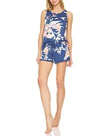 Floral-Print Tank Top & Shorts Pajama Set