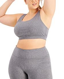 Plus Size Sweat Set Sports Bra, Created for Macy's