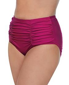 Trendy Plus Size Solids Costa Swim Bottoms