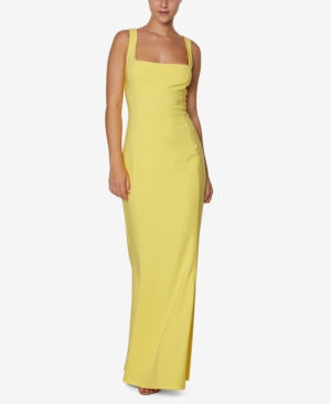 Square-Neck Mermaid Gown