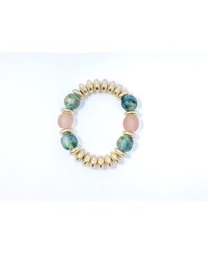Pops of Light Accents Beads Stretch Bracelet
